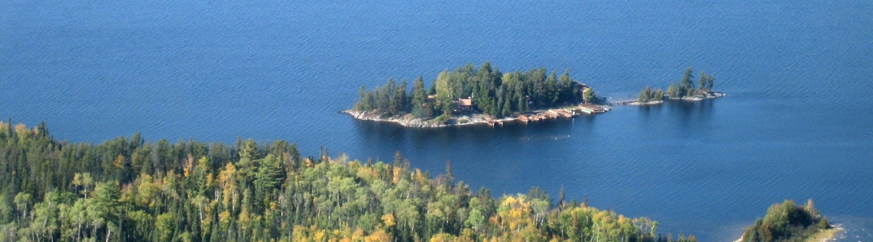 Loch Island Lodge From Air - Ontario Fishing