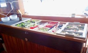 New this year–– create the perfect salad at our Loch Island salad bar