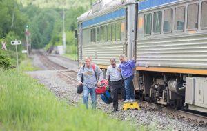 Train-In on Budd Car Canadian Pacific Railway Dropoff at Lochalsh