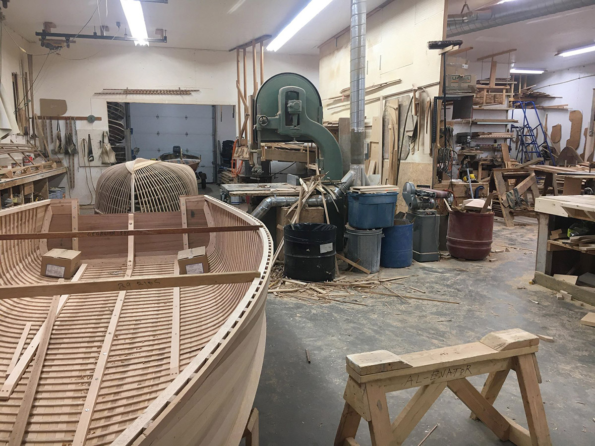 A Trip to the Giesler Cedar Strip Boat Workshop!